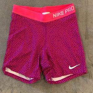 Girls Nike Pro Compression shorts